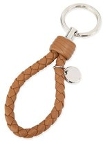 Bottega Veneta Intrecciato Lambskin Key Ring, Camel