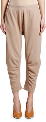 Stella McCartney Knit Ruched Cropped Jogger Pants