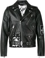 Misbhv - WARSZAWA 1980 biker jacket - men - Leather/Viscose - M