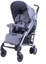 Basson Baby Grey Pico Quilted 6 Wheel Stroller