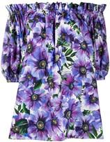 Dolce & Gabbana floral print off-shoulder blouse