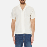 Folk Linen Cuban Collar Shirt White