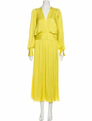 Smythe V-Neck Long Dress w/ Tags Yellow