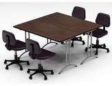 Gilcrest Meeting Seminar 2 Piece Square Meeting Table Set Latitude Run Top Finish: Java