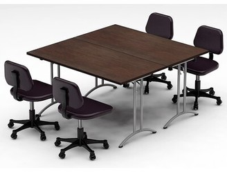 Latitude Run Gilcrest Meeting Seminar 2 Piece Square Meeting Table Set Top Finish: Java