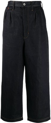 Junya Watanabe High-Waisted Wide Leg Jeans