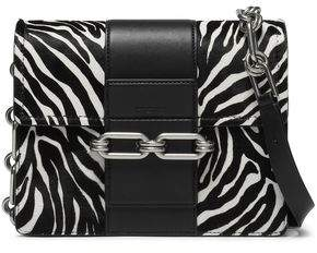 164dd55f068c98 Michael Kors Zebra-print Calf Hair And Leather Shoulder Bag