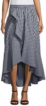 Prose & Poetry Clara Ruffled Gingham Skirt