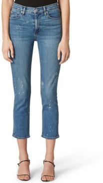 Hudson Barbara Ripped Straight-Leg Jeans