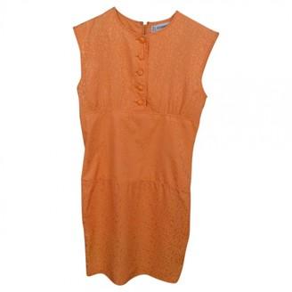 Jean Louis Scherrer Jean-louis Scherrer Orange Silk Dress for Women Vintage