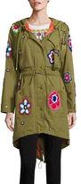 Moschino Embroidered Floral Parka