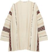 Mes Demoiselles Estha Embellished Wool-blend Cardigan - Ecru