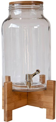 Alex Liddy Slate & Co Glass Drink Dispenser with Acacia Stand 5.5L