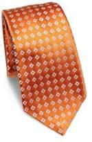 Kiton Contrast Floral Print Silk Tie