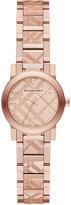 Burberry Women's Swiss Rose Gold-Tone Stainless Steel Bracelet Watch 26mm BU9235