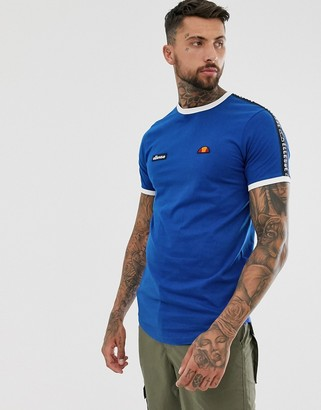 Ellesse Fede t-shirt with taping in blue