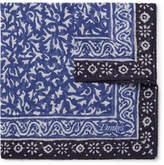 Drakes Drake's - Batik Printed Cotton, Modal and Cashmere-Blend Pocket Square