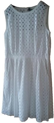 Hallhuber White Cotton Dress for Women