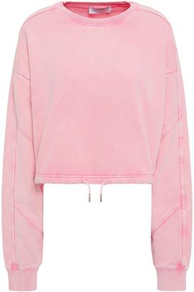 Ninety Percent Cropped Organic French Cotton-terry Sweatshirt