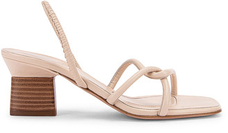 Rosetta Getty Strappy Heeled Slingback Sandals in Parchment | FWRD