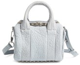 Alexander Wang Mini Rockie Pebbled Leather Crossbody Satchel - Beige