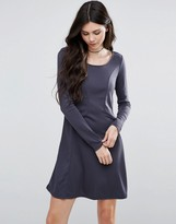 Vila Long Sleeve Skater Dress