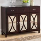 Andover Mills Sidell Wood Door and Drawer Console Table