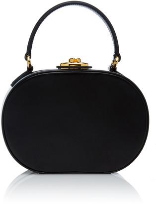 Mark Cross Small Gianna Leather Oval Bag