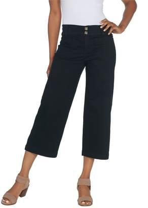 Denim & Co. Stretch Twill Wide Leg Crop Pant
