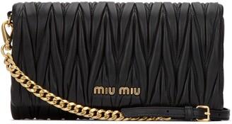 Miu Miu Matelasse Chain Strap Clutch