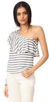 Splendid One Shoulder Top with Ruffle