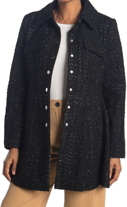Laundry by Shelli Segal Collared Fit & Flare Coat