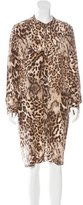 Gerard Darel Silk Leopard Print Dress