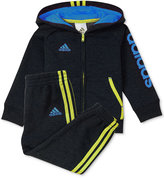adidas 2-Pc. Warm-Up Hoodie and Pants Set, Baby Boys (0-24 months)