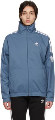 adidas Blue Adicolor 3D Trefoil Track Jacket