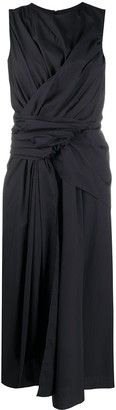 Christian Wijnants Draped Tie Waist Dress