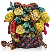 Jamin Puech Exotic Fruits Straw Mini Bag