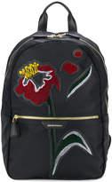 Emporio Armani appliqué flower backpack