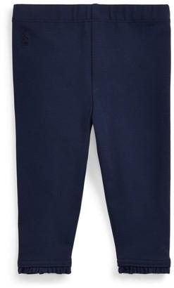 Ralph Lauren Ruffled Stretch Cotton Legging