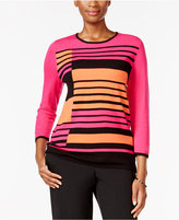 Alfred Dunner Theater District Striped Sweater
