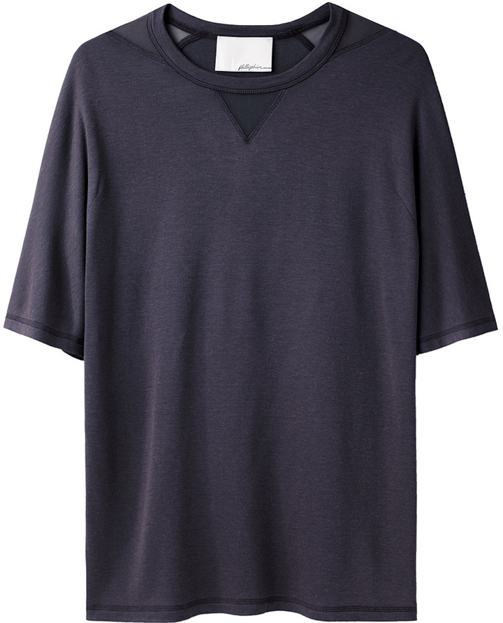 3.1 Phillip Lim T-Shirt with Notched Neckline