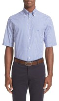 Paul & Shark Men's Gingham Sport Shirt