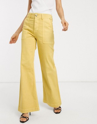 Rachel Antonoff mike wide leg jeans
