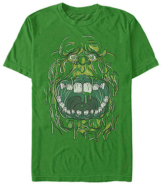 Fifth Sun Tee Shirts KELLY - Ghostbusters Kelly Green Slimer Face Crewneck Tee - Adult