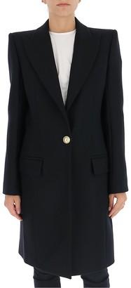 Balmain High Shoulders Tailored Coat