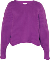 Loulou Studio Vivara Rib-Knit Cropped Sweater
