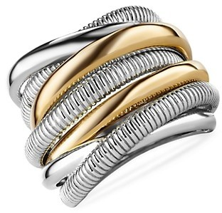 Judith Ripka Eternity 18K Yellow Gold & Sterling Silver 7-Band Highway Ring