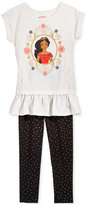 Disney Disney's® Princess Elena 2-Pc. Tunic & Dotted Leggings Set, Toddler & Little Girls (2T-6X)