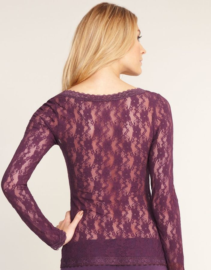 Just Peachy By Figleaves.com Lace Long Sleeve Top