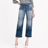J.Crew Point Sur Teddy buckle-back cropped jean in falcone wash